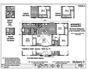 Floor Plan w/ Available Options